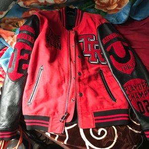 True Religion varsity jacket.